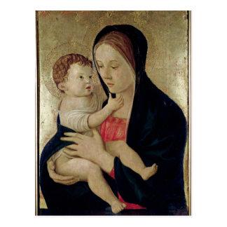 Madonna y niño c 1475 postales