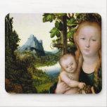 Madonna y niño, c.1525 tapete de ratón