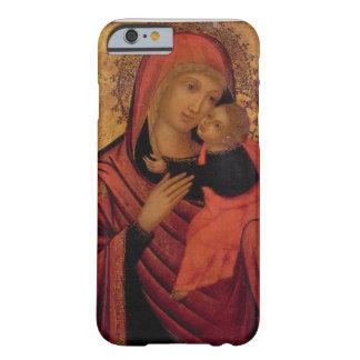 Madonna y niño, c.1650 (el panel) funda para iPhone 6 barely there