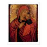 Madonna y niño, c.1650 (el panel) postal