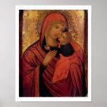 Madonna y niño, c.1650 (el panel) póster