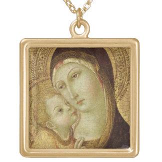 Madonna y niño colgante cuadrado