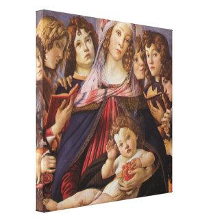 Madonna y niño con ángeles de Sandro Botticelli Impresion En Lona