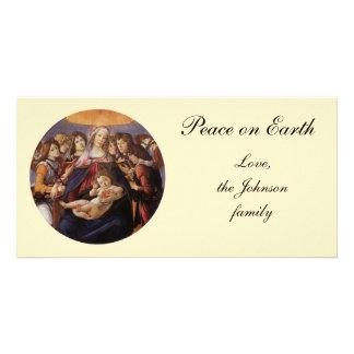 Madonna y niño con ángeles de Sandro Botticelli Plantilla Para Tarjeta De Foto