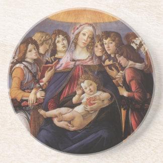 Madonna y niño con ángeles de Sandro Botticelli Posavasos Para Bebidas