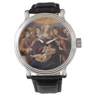 Madonna y niño con ángeles de Sandro Botticelli Relojes De Pulsera