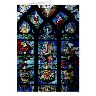 Madonna y niño con ángeles y reflec de los retrato tarjeta de felicitación