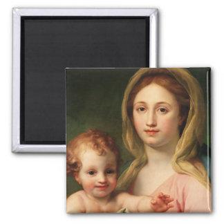 Madonna y niño con dos ángeles 1770-73 imanes