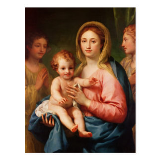 Madonna y niño con dos ángeles, 1770-73 tarjeta postal