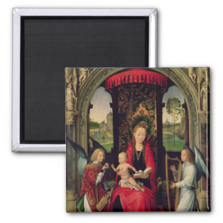 Madonna y niño con dos ángeles iman