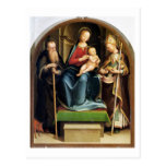 Madonna y niño con el abad y St. N de St Anthony Postal