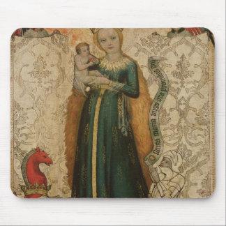 Madonna y niño con las espigas de trigo, 1440-50 alfombrilla de raton