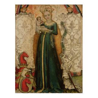 Madonna y niño con las espigas de trigo, 1440-50 postal