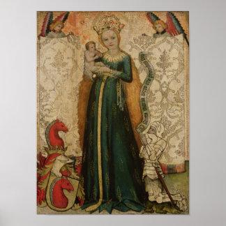 Madonna y niño con las espigas de trigo, 1440-50 póster