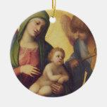 Madonna y niño con los ángeles c.1510-15 (aceite e adornos