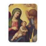 Madonna y niño con los ángeles c.1510-15 (aceite e iman de vinilo