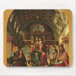 Madonna y niño con los santos, 1499 alfombrillas de ratones