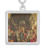 Madonna y niño con los santos, 1499 collar plateado