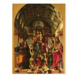 Madonna y niño con los santos, 1499 postal