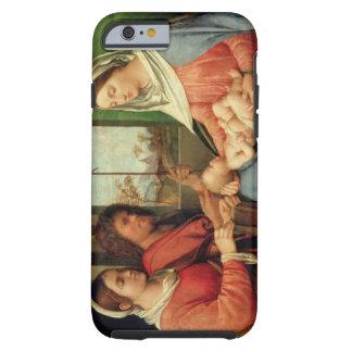 Madonna y niño con los santos 2 funda de iPhone 6 tough