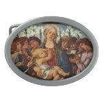 Madonna y niño con ocho ángeles por Botticelli Hebilla De Cinturon