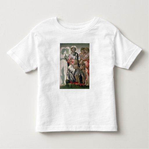 Madonna y niño con St. John, c.1495 Playera