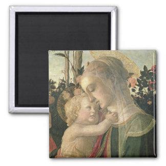 Madonna y niño con St. John el Bautista, detai Imán Para Frigorifico