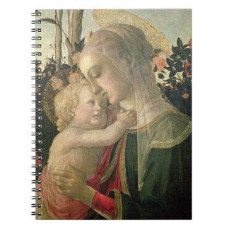 Madonna y niño con St. John el Bautista, detai Libreta Espiral