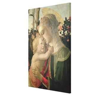 Madonna y niño con St. John el Bautista, detai Lona Estirada Galerias