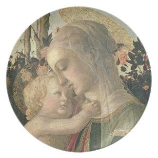 Madonna y niño con St. John el Bautista, detai Platos De Comidas