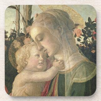 Madonna y niño con St. John el Bautista, detai Posavasos
