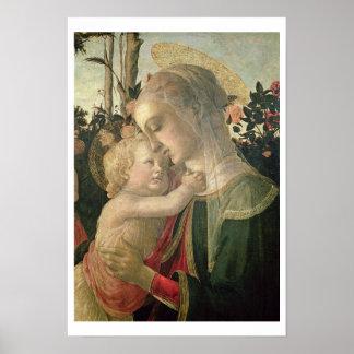 Madonna y niño con St. John el Bautista, detai Póster