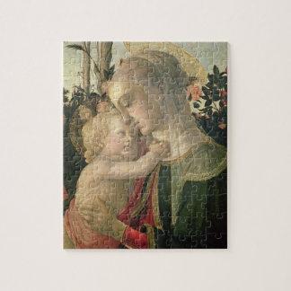 Madonna y niño con St. John el Bautista, detai Puzzle