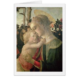 Madonna y niño con St. John el Bautista, detai Tarjeta De Felicitación
