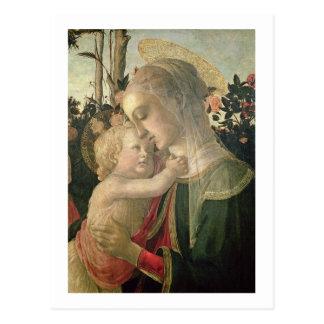 Madonna y niño con St. John el Bautista, detai Tarjeta Postal