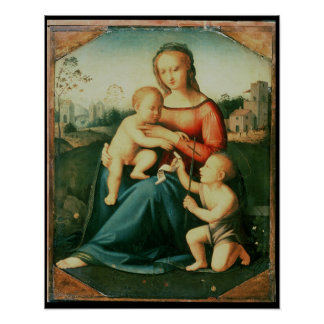 Madonna y niño con St. John el Bautista Impresiones
