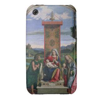 Madonna y niño con St. John el Bautista y el mA iPhone 3 Fundas