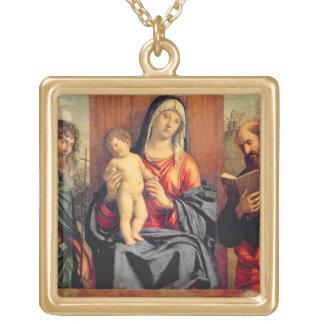 Madonna y niño con St. John el Bautista y el St Colgante Cuadrado