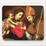 Madonna y niño con St. Zenobius Alfombrilla De Ratón