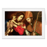 Madonna y niño con St. Zenobius Tarjeta De Felicitación