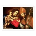Madonna y niño con St. Zenobius Tarjeta Postal