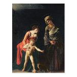 Madonna y niño con una serpiente, 1605 postales