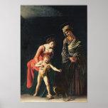 Madonna y niño con una serpiente, 1605 póster