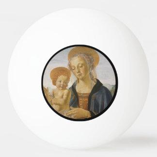 Madonna y niño de Andrea del Verrocchio Pelota De Tenis De Mesa