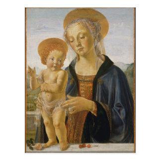 Madonna y niño de Andrea del Verrocchio Tarjeta Postal