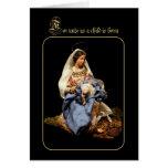 Madonna y niño de Cristo Felicitacion