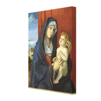 Madonna y niño de Juan Bellini Impresión En Lona
