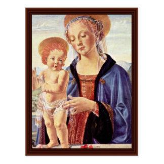 Madonna y niño de Sarto Andrea Del Postales