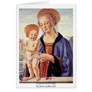 Madonna y niño de Sarto Andrea Del Tarjeta De Felicitación