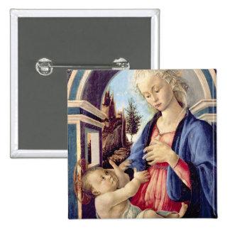 Madonna y niño (el panel) 2 pin cuadrado